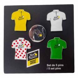 Set de 4 pin's Tour de France 2019